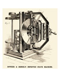 Bowker and Bensel's Improved Stave Machine Posters