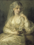 Portrait of a Lady As a Vestal Virgin Print by Angelica Kauffmann