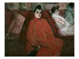 The Divan Print by Henri de Toulouse-Lautrec