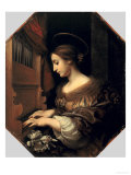 St. Cecilia Gicle-tryk af Carlo Dolci