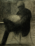 Man Reading Poster by Georges Seurat