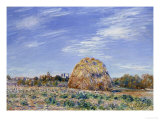 Haystacks on River Bank Posters by Alfred Sisley