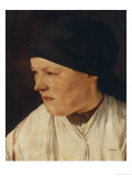 Head of a Peasant Girl Giclee Print by Wilhelm Leibl