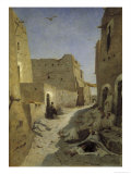 A Street in Laghouat Giclee Print by Eugene Fromentin