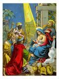 Baby Jesus Receives Gifts Posters