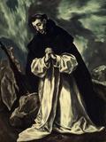 St.Dominic Praying Giclée-tryk af El Greco