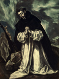 St.Dominic Praying Giclee Print by  El Greco