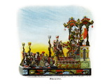 Theatre - Mardi Gras Parade Float Design Print
