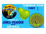 Jones-Peacock Tasmanian Pears Posters