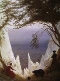 Acantilados blancos de Rügen Lámina giclée por Caspar David Friedrich