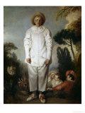 Gilles Posters by Jean Antoine Watteau