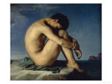 Study of a Male Nude Giclee Print by Hippolyte Flandrin
