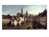 Dresden Market Square Giclee Print by  Canaletto