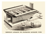 Mansfield's Apparatus for Evaporating Saccharine Juices Poster