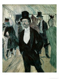Portrait of Henri Fourcade Poster by Henri de Toulouse-Lautrec