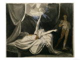 Kriemhild Dreams of the Dead Siegfried Poster by Henry Fuseli