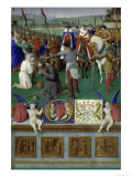 Torment of Apostle Jacob Maior Print by Jean Fouquet