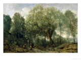 The Catalpa Posters by Jean-Baptiste-Camille Corot