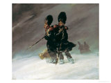 Grenadiers in the Snow Gicl&#233;e-Druck von Ferdinand Von Rayski