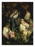 The Foolish Virgins Giclee Print by Narcisse Virgile Diaz de la Pena