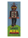 Mechanical Walking Spaceman Posters