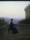Woman on a Balcony Giclee Print by Karl Gustav Carus