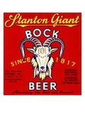 Stanton Giant Bock Beer Poster