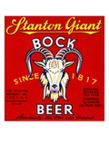 Stanton Giant Bock Beer Print