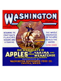 Washington Brand Dehydrated Apples Poster