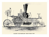 Saladee's Self-Propelling Rotary Steam Plow Poster