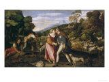 Jacob and Rachel Giclée-Druck von Palma Vecchio
