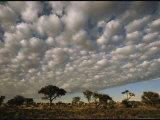 Cloud-Filled Sky Above the Kalahari Desert Photographic Print by Mattias Klum