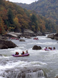 Rafters Riding the Rock Strewn Gauley River Through a Mountain Gorge Photographic Print by Raymond Gehman