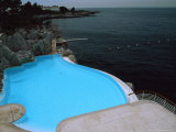 Pool on Mediterranean, Hotel Du Cap Photographic Print by David Evans