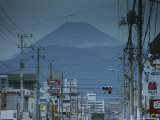 The View of Mt. Fuji is Obscured By Urban Sprawl Photographic Print by Karen Kasmauski