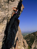 Rock Climber on 'Mean Streak, a Difficult Crag Near Bozeman Pass Photographic Print by Gordon Wiltsie