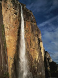 View of Cascading Angel Falls, One of the World's Highest Waterfalls Photographic Print by Mark Cosslett
