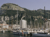 Sailboats Moored in Gibraltar Bay Photographic Print by Lynn Abercrombie