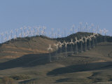 Rows of Spinning Wind Turbines Generate Electricity Photographic Print by Marc Moritsch