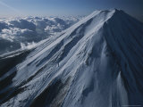 An Aerial View of a Snow-Covered Mt. Fuji Photographic Print by Karen Kasmauski