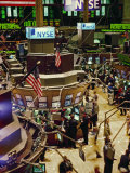 Wall Street, New York the Trading Floor of the New York Stock Exchange in New York City Photographic Print