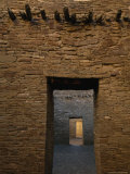 Doorway and Walls Inside Pueblo Bonito Photographic Print by Bill Hatcher