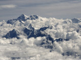 Monsoon Clouds Shroud Mount Everest and Lhotse Beyond Photographic Print by Gordon Wiltsie