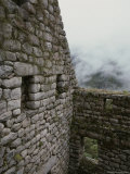 Masonry Walls of Inca Ruins of Machu Picchu, Cuzco, Peru Photographic Print by Mattias Klum