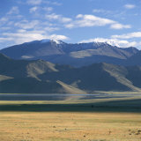 View of the Altai Mountains, Near Bulgan, Mongolia Photographic Print by David Pluth
