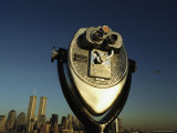 Pay-Per-View Binocular Gives Patrons a View of New York City Photographic Print by Roy Gumpel