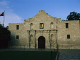 Glow of Sunset Reflects in Window of Texas' Beloved Historic Alamo Photographic Print by Stephen St. John