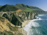 The Beach and Shoreline Along Highway 1 Near Bixby Bridge Photographic Print by Phil Schermeister
