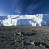 View of Mount Kilimanjaro's Summit Crater Ice Field Photographic Print by David Pluth