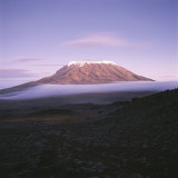 View of Snow-Capped Mount Kilimanjaro From Mawenzi Tarn Photographic Print by David Pluth